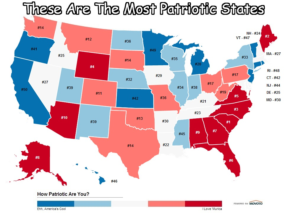 Most Stressed States Map