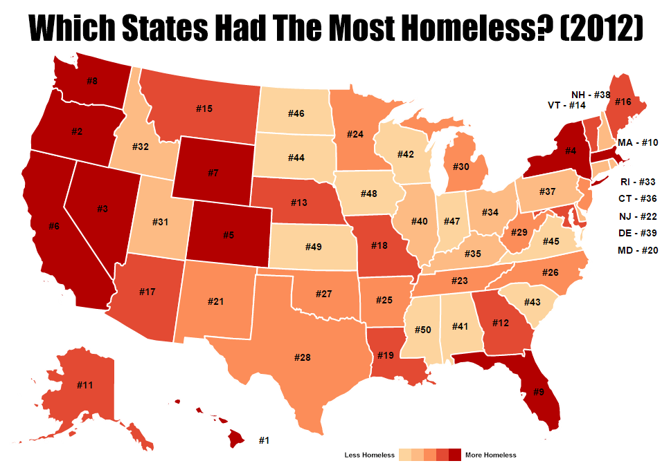 These Surprising Maps Show How Each State Stacks Up In Terms Of Homelessness