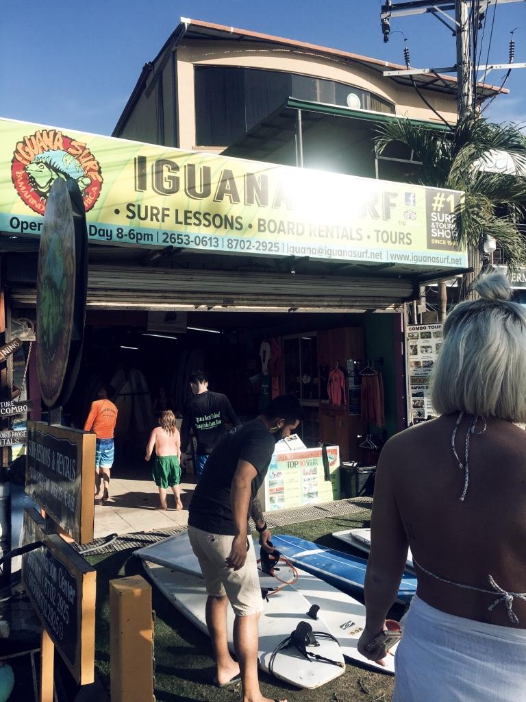 Iguana surf tamarindo Costa Rica by Christine Bennett of moxiefashionblog.com