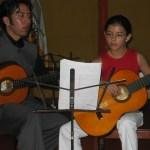 Profesor Efrain Jaque con  la alumna