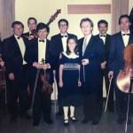 A los 10 años de edad junto a la Orquesta Sinfónica
