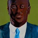 "Portrait Art of Sir Henry James ""Jack"" Tucker was Black? Acrylic on paper by artist Manuel Palacio"