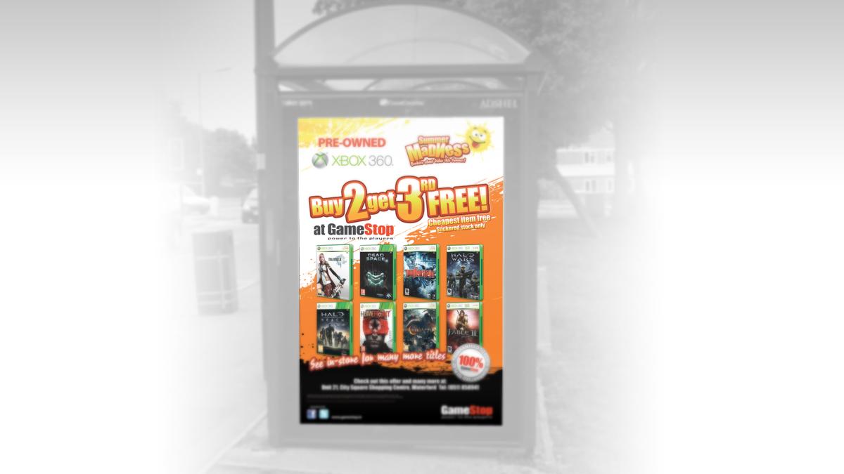 GameStop busboard ad