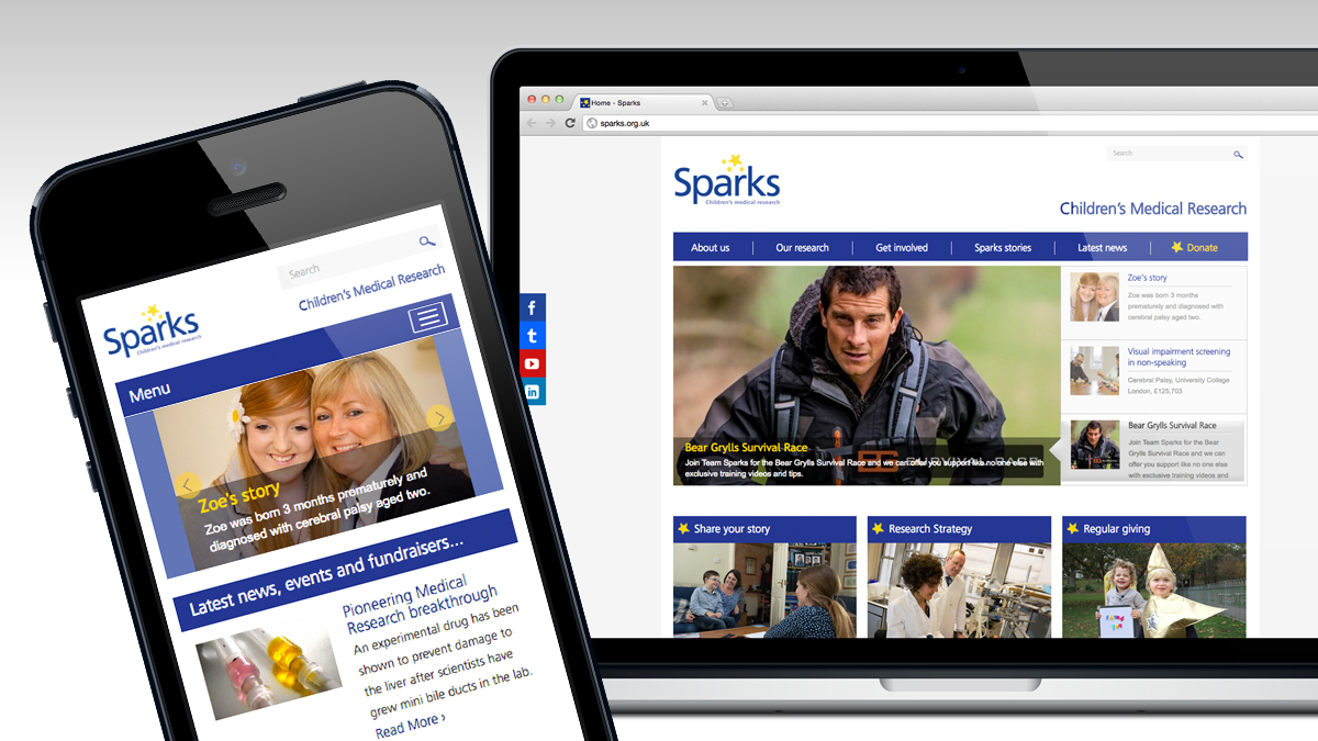 Sparks full website and responsive design