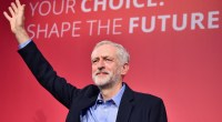 LONDON, ENGLAND - SEPTEMBER 12:  Jeremy Corbyn is announced as the new leader of the Labour Party at the Queen Elizabeth II conference centre on September 12, 2015 in London, England. Mr Corbyn was announced as the new Labour leader today following three months of campaigning against fellow candidates ministers Yvette Cooper and Andy Burnham and shadow minister Liz Kendall. The leadership contest comes after Ed Miliband's resignation following the general election defeat in May. (Photo by Jeff J Mitchell/Getty Images)
