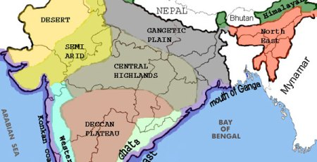 Map India Landslide Earthquake prone areas