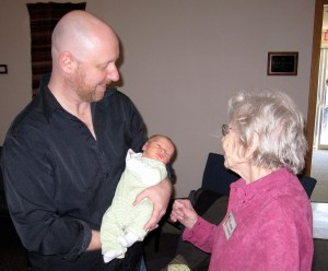 Youngest member meets oldest member March 21 2010