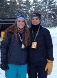 Bethany & Kthy Wright at the 2016 Noquemanon Ski Marathon MqtUU Aide Station