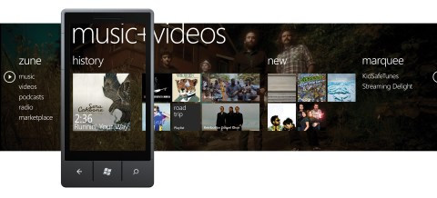 Musik- und Video-Hub in Windows Phone 7 (US)