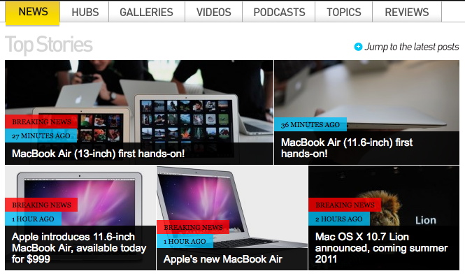 Screenshot engadget.com