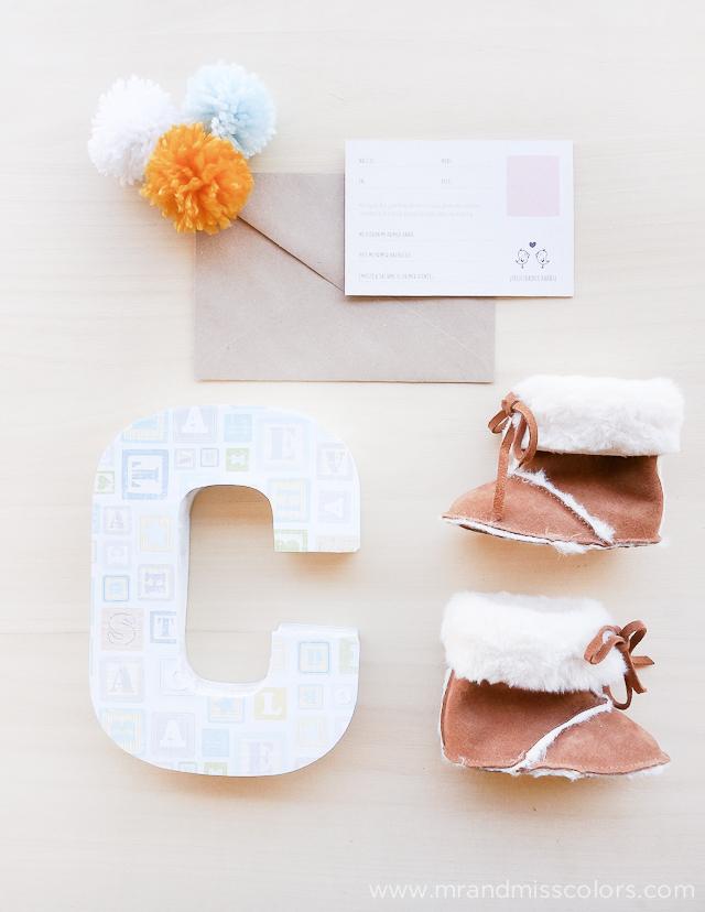 tarjetas de bienvenida para bebe - diseño personalizdo