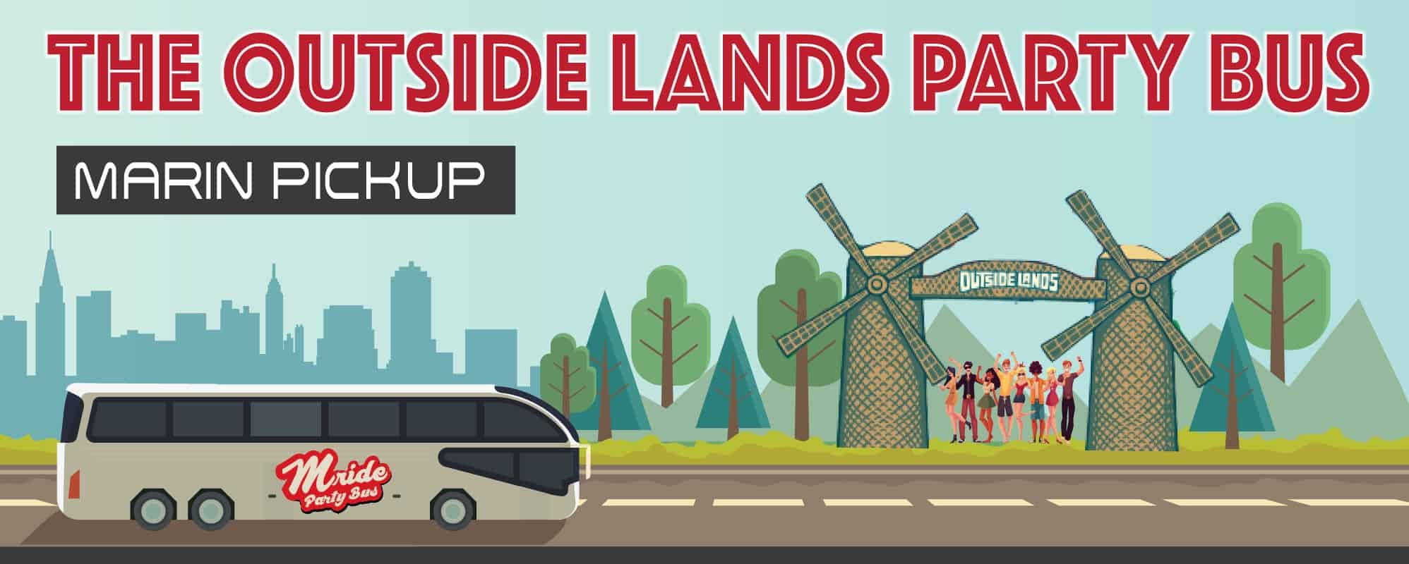 Outside Lands Party bus (Marin Pickup)
