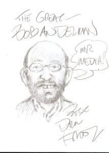 Drew Friedman sketch of Mr. Media, Bob Andelman, 111711