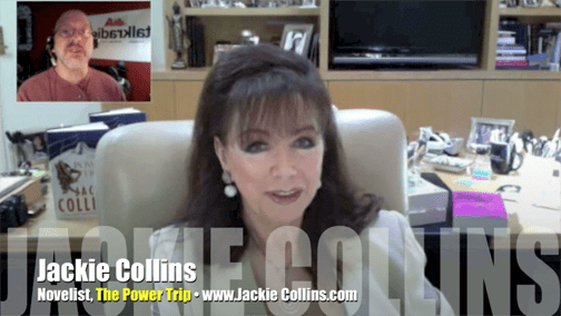 Novelist Jackie Collins, The Power Trip, Mr. Media Interview