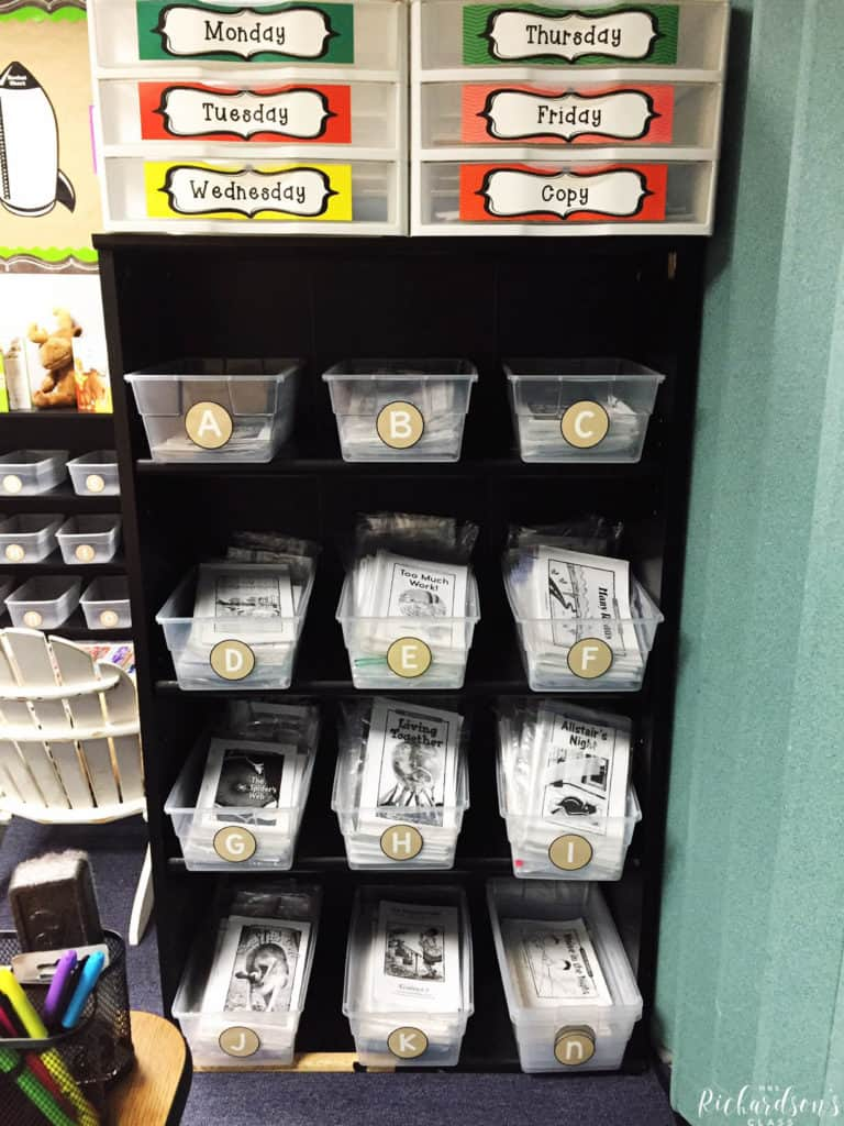 Teacher guided reading storage that is simple!
