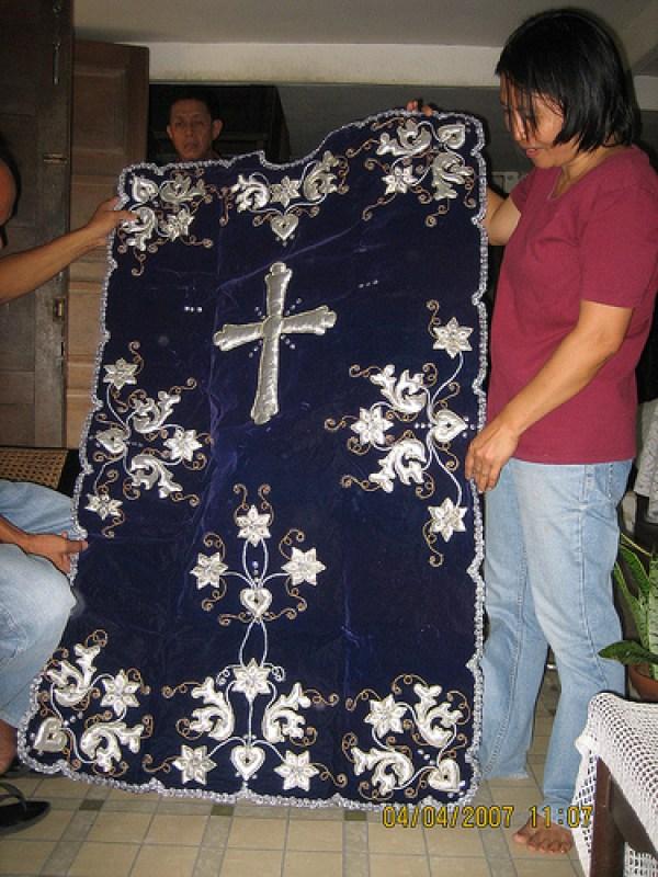 Blanket of Santo Entierro - Angat, Bulacan