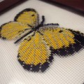 Basic butterfly pattern, stitched on Kreinik silk gauze.