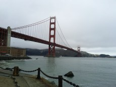The Golden Gate Bridge while on a run