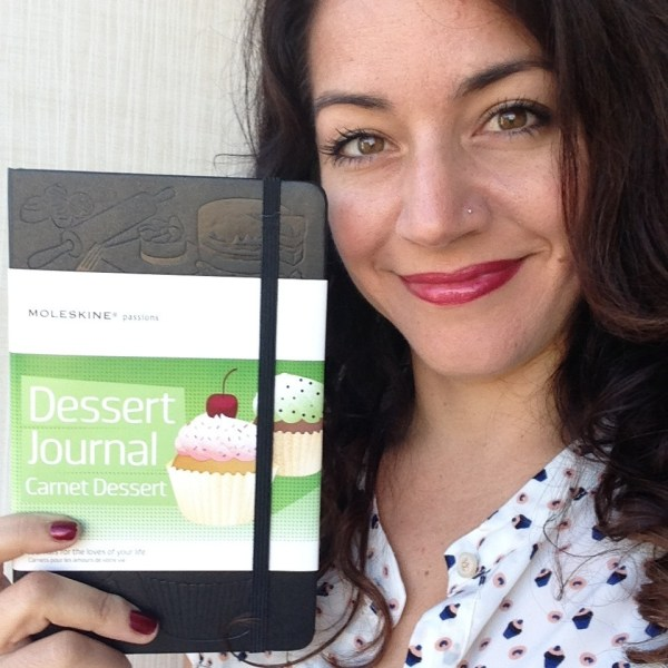 Sara Rosso with the Moleskine Passions Dessert Journal