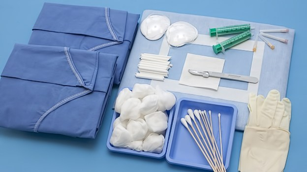 Basic components: (Qualities and sizes according to your specifications) <br/>Instrument table cover; <br/>Instrument table drape; <br/>Armrest covers with tape; <br/>Surgical Tape; <br/>Surgical gowns spun-lace; <br/>Surgical Gowns SMS; <br/>Surgical Gowns SMS with reinforcement on the arms and chest; <br/>Other items, such as:   needles, scalpels, cups, syringes, gloves, dressings, infusion systems; <br/>Many more components are available on request.