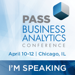 I'm speaking at PASS BA Conference