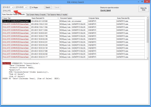 Searching for DAX queries in SSMS Tools Pack SQL History