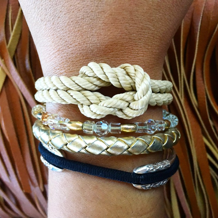 Bracelet Stack! Lemon and Line, Alex and Ani, Maria Shireen hair tie bracelet