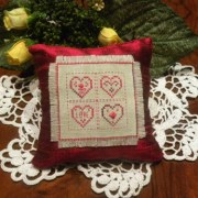 Four Hearts pincushion
