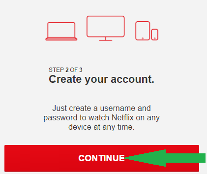 how to create netflix account