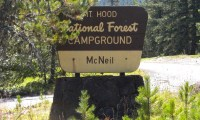 Mcneil Campground Sign