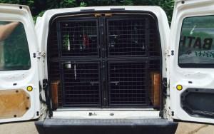 Each cage has a compression lock, escape door and vet bedding.