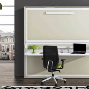 Litera abatible con escritorio incorporado.