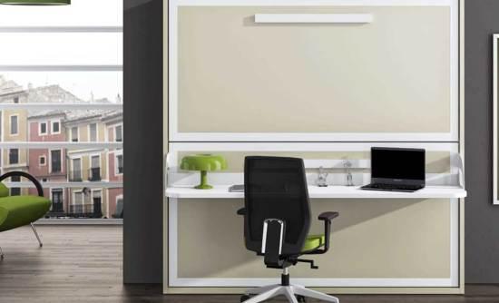 Litera abatible y escritorio