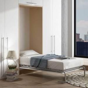 Cama abatible vertical con armarios