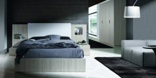 Dormitorio con armario de puertas batiente kroma