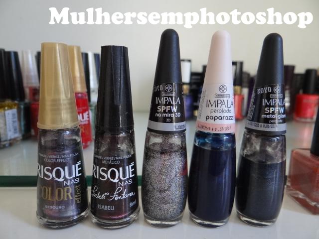 esmaltes mais usados -esmaltes escuros