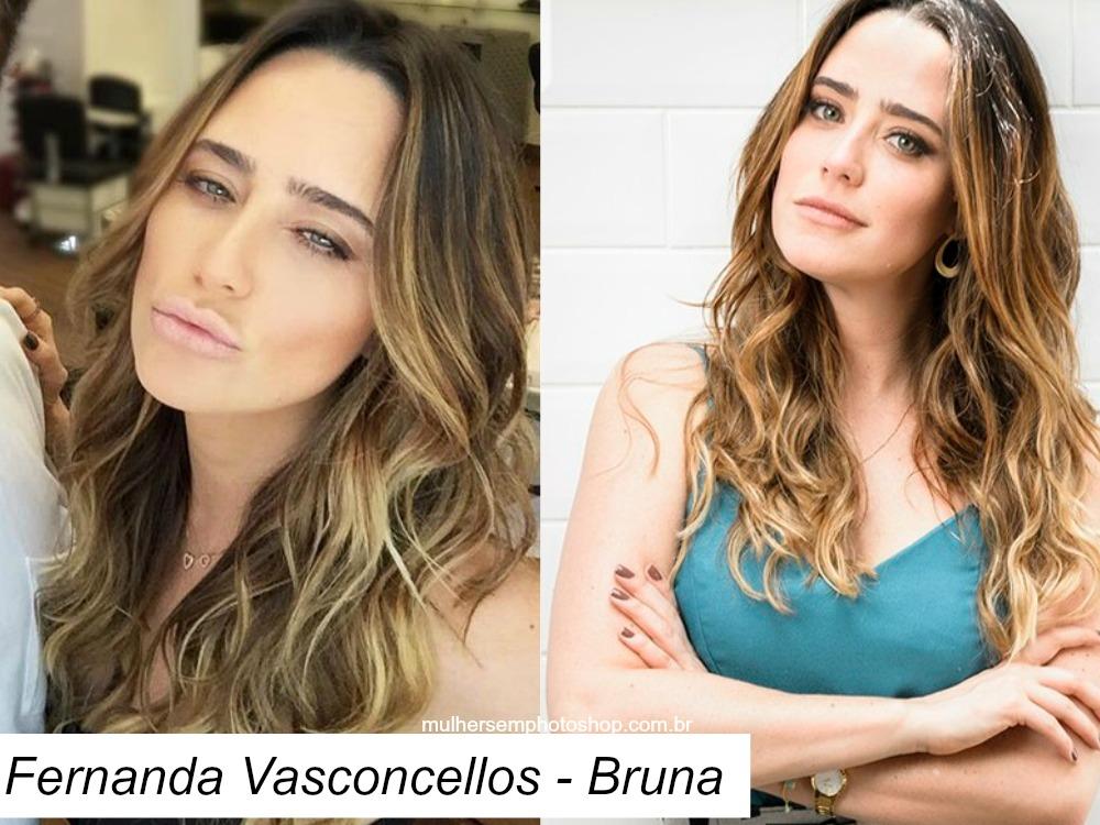 Cabelo Fernanda Vasconcellos - Bruna - Haja Coração