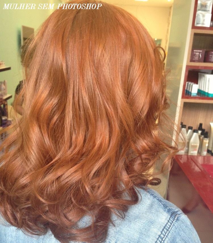 Cores de cabelo: ruivo