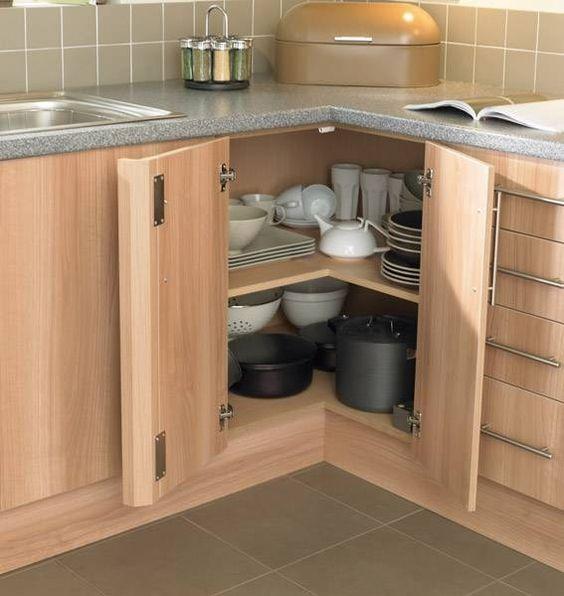 Como aproveitar o canto do armário da cozinha