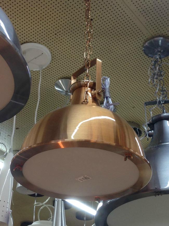 Pendente cobre industrial
