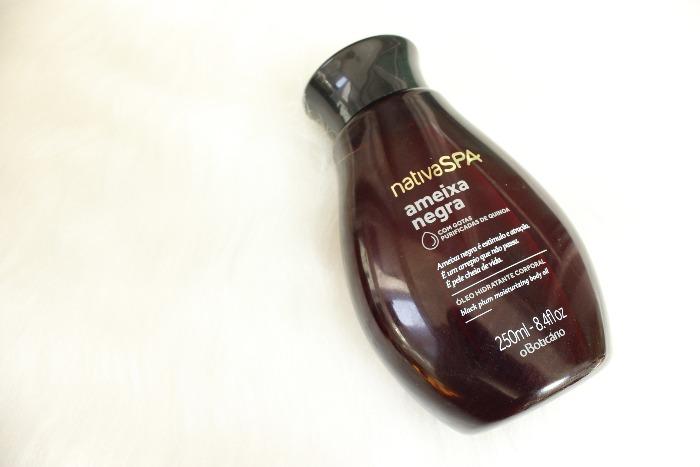 oleo hidratante Ameixa Negra Nativa Spa Boticário resenha