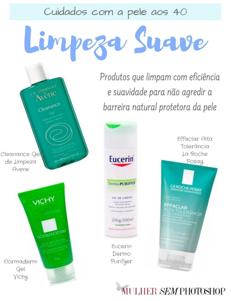 Cuidados com a pele aos 40 anos - limpeza da pele oleosa