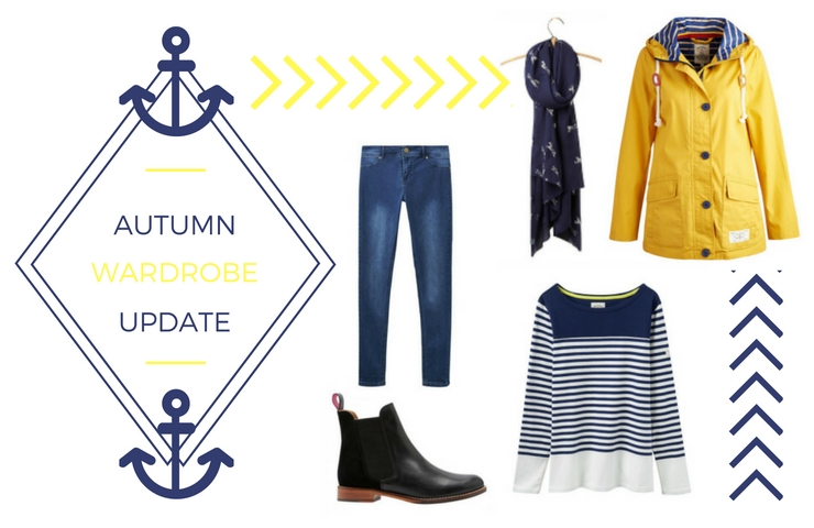 Autumn wardrobe with Joules promo codes