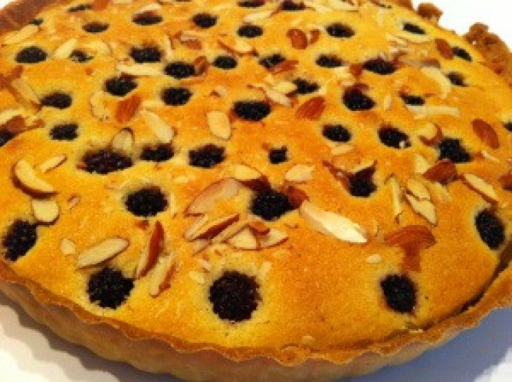 blackberry bakewell tart