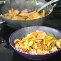 Sweet Chili Turkey Stir Fry with Kwan's Kitchen