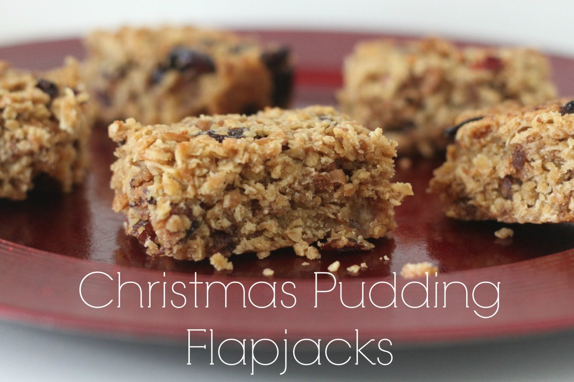 Christmas Pudding Flapjacks