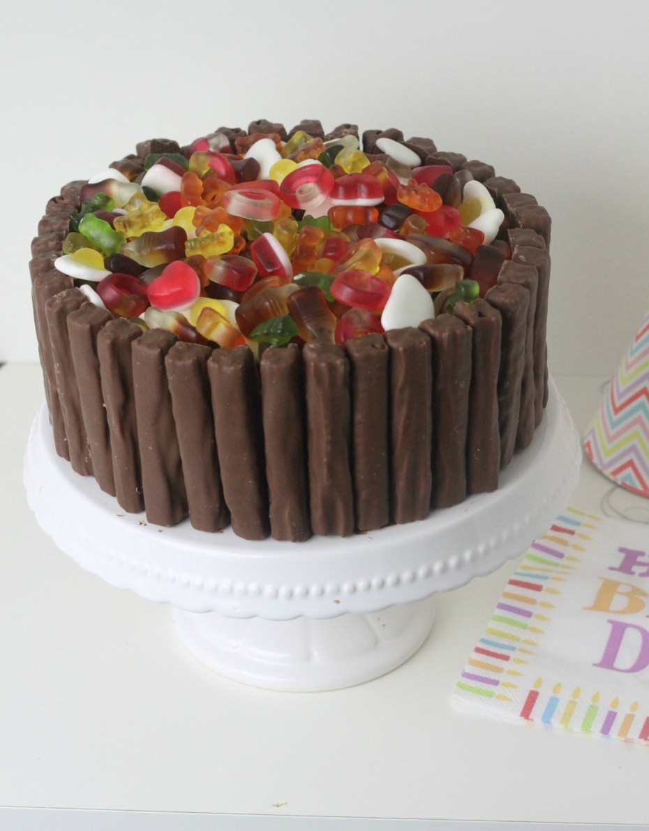 Haribo & Cadbury's Twirl Chocolate Celebration Cake