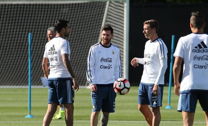 Lionel Messi Augusto Fernandez Lucas Biglia