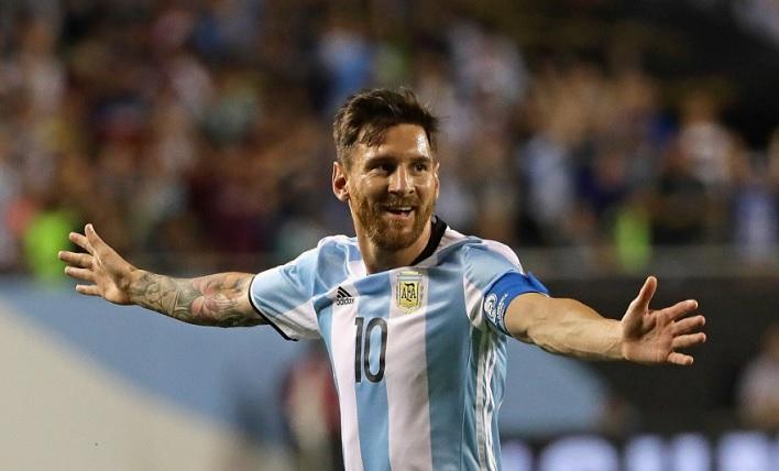 Messi Celebrating