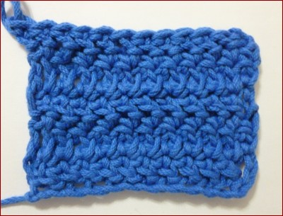 Punto vareta inclinado o herringbone double crochet